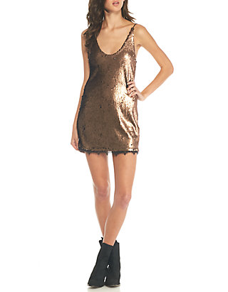 182d607ed42d5 Free People. Free People Seeing Double Sequin Slip Dress