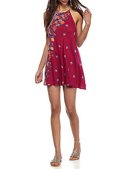 Free People It's A Cinch Printed Dress