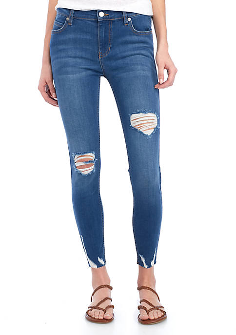 Free People Sharkbite Skinny Jeans