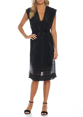 Daisy Embellished Midi Dress - Black Free People TcaxT