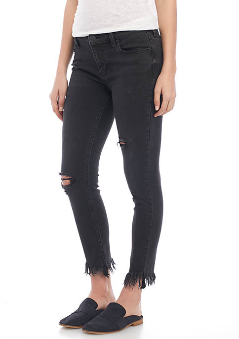 Free People Great Heights Fray Skinny Jean