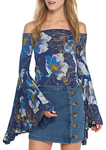 Printed Birds Of Paradise Top