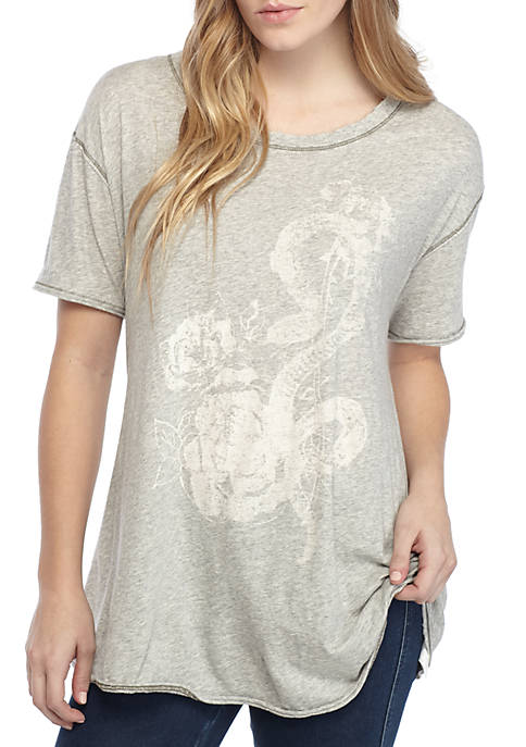 Free People Alpha Graphic Tee