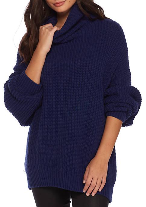 Turtleneck Loose Knit Sweater