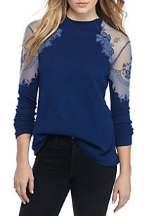 Daniella Lace Shoulder Top