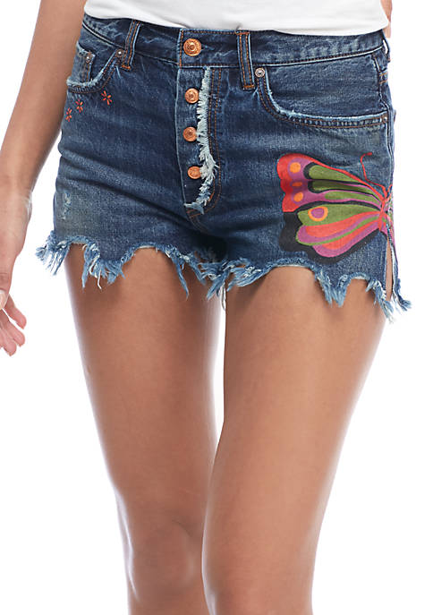 Free People Field Of Sun Denim Shorts
