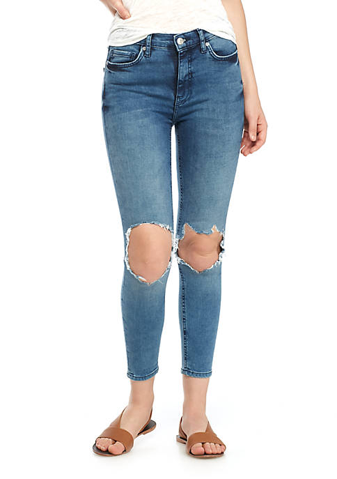 Free People High Rise Busted Skinny Shorts