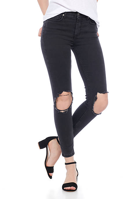 Free People Hiri Busted Skinny Denim Jeans