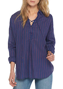 Under the Boardwalk Lace Up Shirt