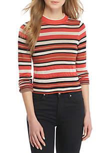 New Age Printed Crew Neck Sweater