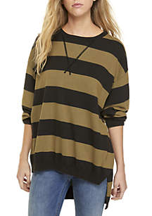 Surfin' on Your Stripes Knit Sweater