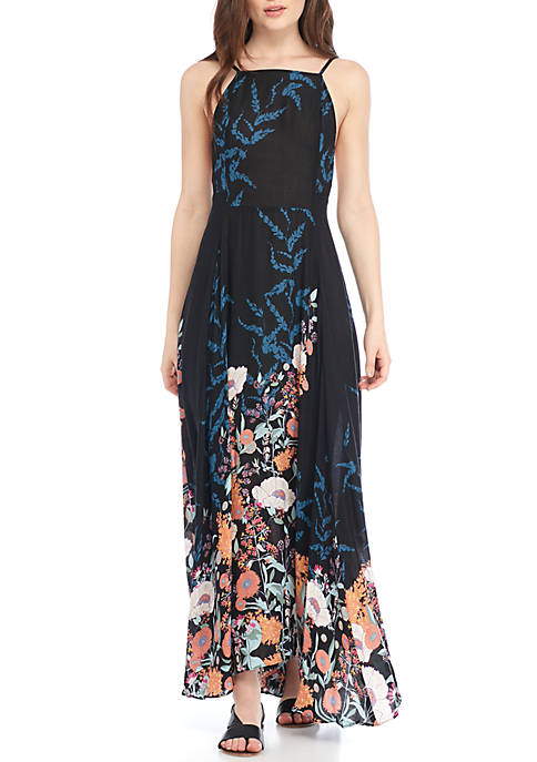 Free People Embrace It Border Print Maxi