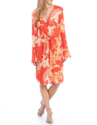 good quality competitive price factory price Mixed Print Twist Dress