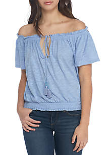 We The Free Hummingbird Off-the-Shoulder Tee