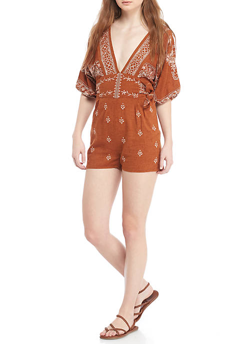 Free People Azalia Embroidered Romper
