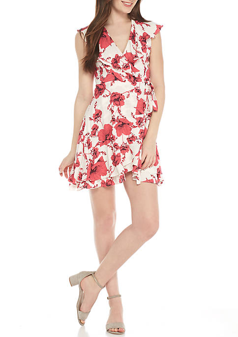 Free People French Quarter Printed Mini Wrap Dress