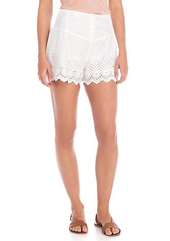 Free People Sweet Like Candy Eyelet Shorts Clearance Prices Best Sale Online Cheap Amazon Sale Store fVpBg5l