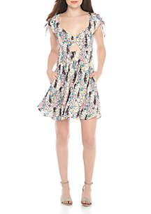 Miss Right Tie Front Dress