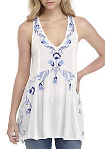 Free People Adelaide Printed Slip Dress