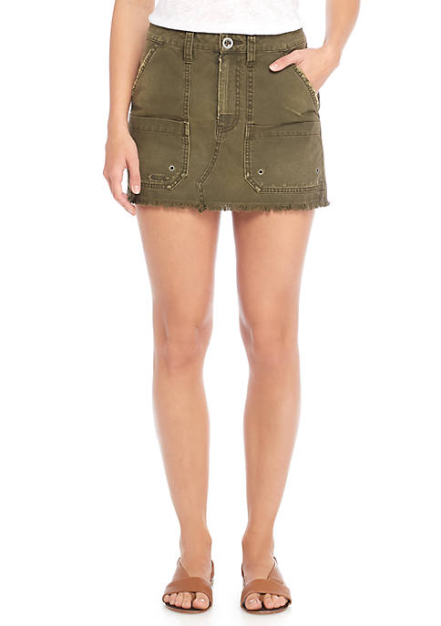 Free People Canvas Relax Mini Skirt