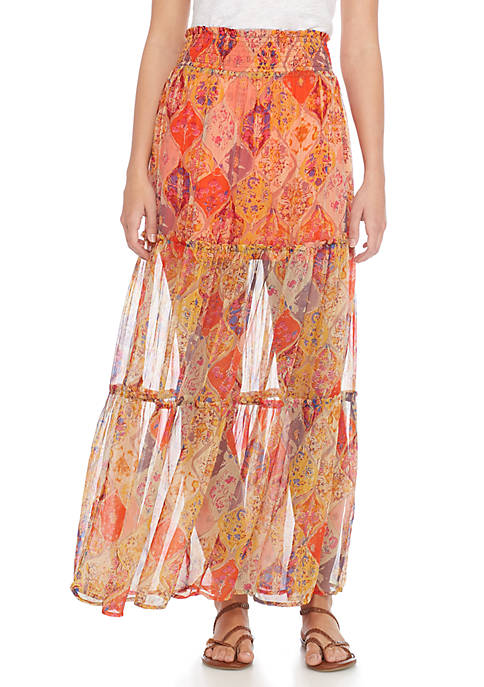 Free People The Great Escape Maxi Skirt