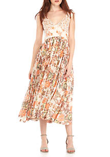 Luv U Floral Midi Dress