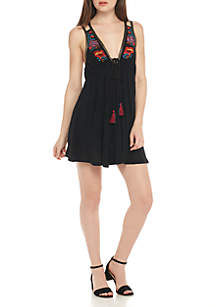 Lover Cove Embroidered Knit Dress