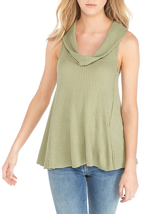 Free People Swing It Thermal Sleeveless Cowl Neck