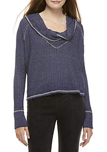 Wildcat Cowl Neck Thermal Pullover