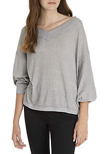 Free People South Side V-Neck Thermal Top