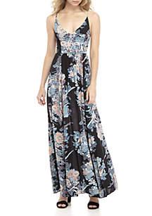 Thru The Vine Printed Maxi Dress