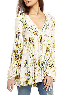 351bfa666628a Free People Summer Nights Striped Top · Free People Bella Printed Floral  Tunic