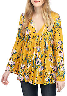Free People Bella Printed Floral Tunic