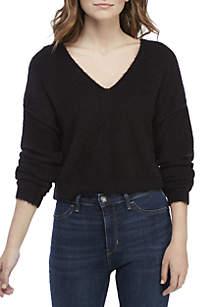 Princess V-Neck Furry Sweater