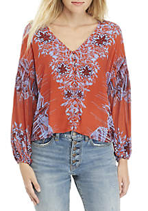 Birds of a Feather Printed Blouse