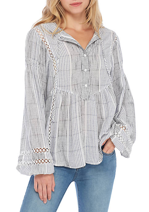 Free People Baja Babe Striped Pullover