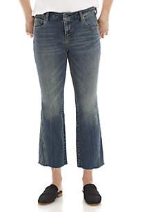 Studded Novelty Flare Leg Jeans