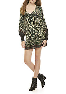Music & Lyrics Mini Dress