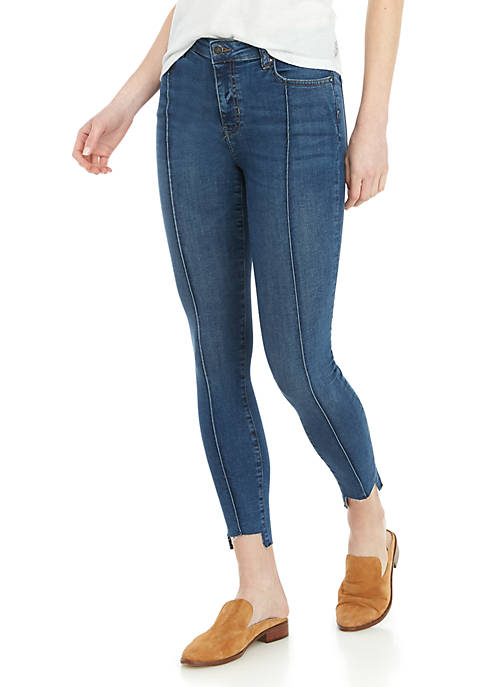 Pintuck Skinny Jeans