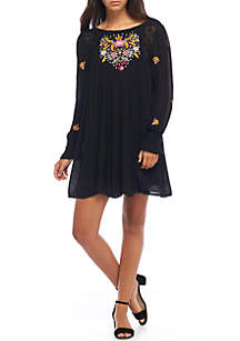 Mohave Embroidered Mini Dress