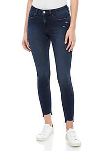 Free People Curvy Mid Rise Skinny Jeans