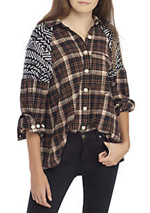 Fireside Nights Button Down Top