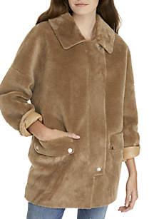 Lindsay Faux Fur Sherpa Coat