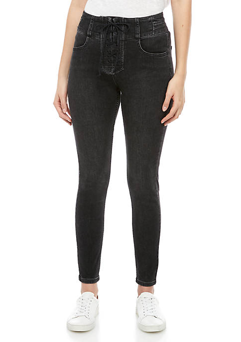 Free People Curvy Lovers Knot Skinny Jeans