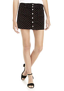 Joanie Corduroy Print Skirt