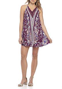Love Bird Printed Mini Dress