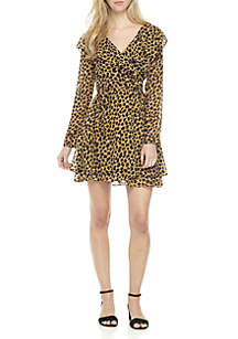 Frenchie Mini Wrap Dress