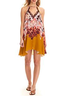 Floral Haze Printed Mini Dress