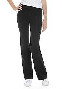 Slim Pull-On Flare Jeans