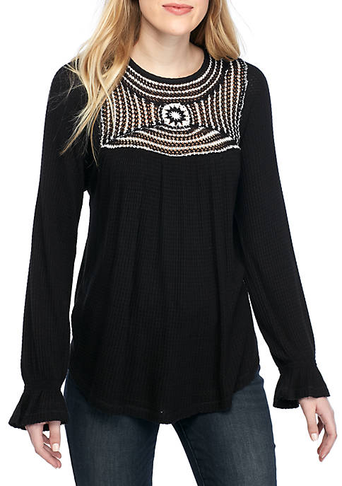 Free People Soul Mate Crochet Sweater